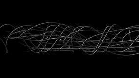 Καμμένος κυματιστές οργανικές γραμμές ελεύθερη απεικόνιση δικαιώματος