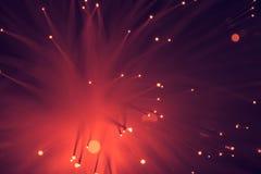 Καμμένος κόκκινο υπόβαθρο σύστασης οπτικών ινών Στοκ εικόνες με δικαίωμα ελεύθερης χρήσης