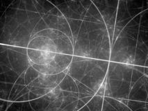 Καμμένος κύκλοι fibonacci διαστημικό σε γραπτό διανυσματική απεικόνιση