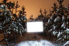 Καμμένος ορθογώνιο σημάδι Στοκ Φωτογραφίες
