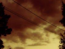 καμμένος ουρανός Στοκ εικόνες με δικαίωμα ελεύθερης χρήσης