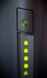 καμμένος πράσινο πλάνο ισχύος κινηματογραφήσεων σε πρώτο πλάνο κουμπιών Πλάνο κινηματογραφήσεων σε πρώτο πλάνο Στοκ εικόνα με δικαίωμα ελεύθερης χρήσης