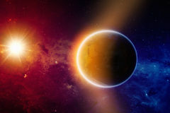 Καμμένος πλανήτης Γη Στοκ Εικόνες