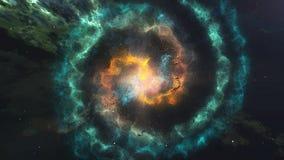 Καμμένος σπείρα του γαλαξία νεφελώματος στο διάστημα διανυσματική απεικόνιση