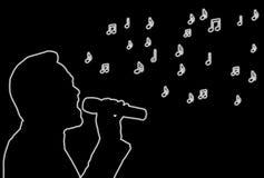 καμμένος τραγουδιστής διανυσματική απεικόνιση