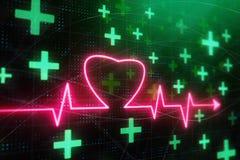 Καμμένος υπόβαθρο κτύπου της καρδιάς διανυσματική απεικόνιση