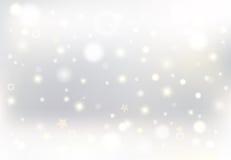 Καμμένος χιονώδες υπόβαθρο Χριστουγέννων Στοκ εικόνα με δικαίωμα ελεύθερης χρήσης