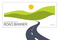 Καμμμένη εθνική οδός απεικόνιση σχεδίου εθνικών οδών διανυσματική τέλεια Στοκ Εικόνες