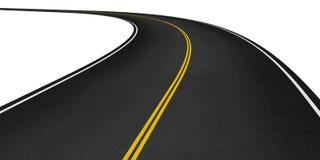 καμμμένος άσφαλτος δρόμο&sig Στοκ εικόνα με δικαίωμα ελεύθερης χρήσης