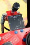 Καμπίνα γερανών στην πλατφόρμα κατασκευής Καμπίνα ελέγχου του χειριστή γερανών Στοκ φωτογραφία με δικαίωμα ελεύθερης χρήσης