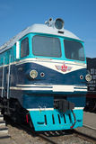 Καμπίνα ενός επιβάτης-και-φορτίου tg-102 κινητήριος στενός επάνω Μουσείο της μεταφοράς σιδηροδρόμων του σιδηροδρόμου Oktyabrskaya Στοκ φωτογραφίες με δικαίωμα ελεύθερης χρήσης
