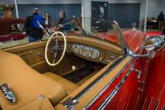 Καμπίνα ενός τύπου 290 της Mercedes-Benz αυτοκινήτων πολυτέλειας ανοικτό αυτοκίνητο (W18), 1935 Στοκ Εικόνες