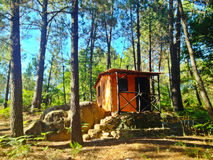 Καμπίνα στα δάση Στοκ φωτογραφίες με δικαίωμα ελεύθερης χρήσης