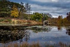 Καμπίνα στο νερό, επτά λίμνες στοκ φωτογραφία