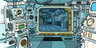 Καμπίνα του διαστημικού σκάφους απεικόνιση αποθεμάτων