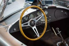 Καμπίνα του εναλλασσόμενου ρεύματος Cobra, 1966 της Shelby ανοικτών αυτοκινήτων Στοκ φωτογραφία με δικαίωμα ελεύθερης χρήσης