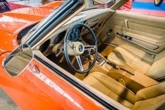 Καμπίνα του δρόμωνα Chevrolet αθλητικών αυτοκινήτων Stingray Coupe C3, 1975 Στοκ Εικόνες