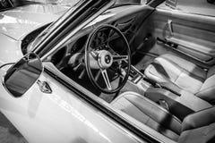 Καμπίνα του δρόμωνα Stingray Coupe Chevrolet αθλητικών αυτοκινήτων (C3), 1975 Στοκ Εικόνες
