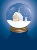 καμπίνα snowglobe στοκ φωτογραφία με δικαίωμα ελεύθερης χρήσης