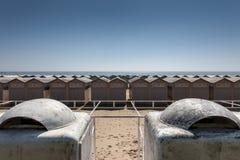 Καμπίνες στην παραλία ενετικού Lido Στοκ Εικόνα