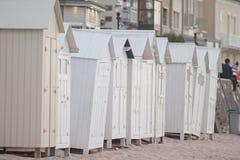 Καμπίνες στην παραλία Στοκ εικόνα με δικαίωμα ελεύθερης χρήσης