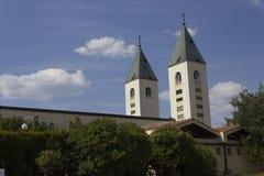 Καμπαναριά Αγίου James σε Medjugorje Στοκ εικόνα με δικαίωμα ελεύθερης χρήσης