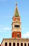 Καμπαναριό από την πλατεία SAN Marco (τετράγωνο του σημαδιού του ST), Βενετία, Ital Στοκ Φωτογραφία