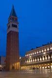 Καμπαναριό Βενετία πλατειών SAN Marco Στοκ φωτογραφίες με δικαίωμα ελεύθερης χρήσης