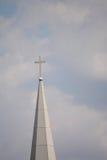 Καμπαναριό με το σταυρό Στοκ Φωτογραφία