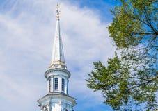Καμπαναριό στην αποικιακή εκκλησία στη Μασαχουσέτη Στοκ εικόνες με δικαίωμα ελεύθερης χρήσης