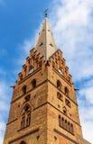 Καμπαναριό του καθεδρικού ναού του ST Petri στο Μάλμοε Στοκ Εικόνες
