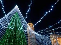 Καμπαναριό Vilnius χριστουγεννιάτικων δέντρων και καθεδρικών ναών Στοκ φωτογραφίες με δικαίωμα ελεύθερης χρήσης