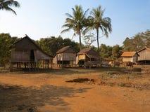 Καμποτζιανά παραδοσιακά σπίτια Στοκ Εικόνες