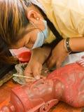 καμποτζιανά προϊόντα καλλιτεχνών τέχνης στις εργασίες Στοκ φωτογραφία με δικαίωμα ελεύθερης χρήσης