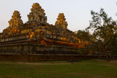 Καμποτζιανές καταστροφές ναών Στοκ εικόνα με δικαίωμα ελεύθερης χρήσης