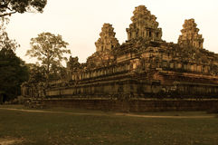 Καμποτζιανές καταστροφές ναών Στοκ Εικόνες