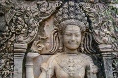 Καμποτζιανές σκηνές 17 ναών Στοκ Εικόνες
