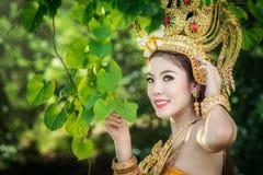 καμποτζιανή γυναίκα Στοκ Φωτογραφίες