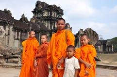 καμποτζιανοί μοναχοί Στοκ Φωτογραφία