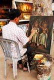 Καμποτζιανός ζωγράφος, Angkor wat Στοκ Φωτογραφίες