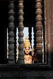 Καμποτζιανός χορευτής, Angkor Wat Στοκ Φωτογραφία
