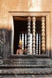 Καμποτζιανός χορευτής, Angkor Wat Στοκ Εικόνες