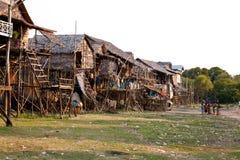 καμποτζιανό χωριό Στοκ φωτογραφία με δικαίωμα ελεύθερης χρήσης