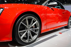 Καμπριολέ Audi RS5, 2014 CDMS Στοκ φωτογραφία με δικαίωμα ελεύθερης χρήσης