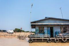 Καμπότζη η banteay λίμνη της Καμπότζης angkor lotuses συγκεντρώνει siem το ναό srey Στοκ Εικόνες