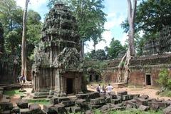 Καμπότζη Ναός TA Prohm Το Siem συγκεντρώνει την επαρχία Το Siem συγκεντρώνει την πόλη Στοκ εικόνα με δικαίωμα ελεύθερης χρήσης