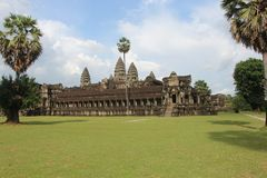 Καμπότζη Ναός Wat Angkor Το Siem συγκεντρώνει την επαρχία Το Siem συγκεντρώνει την πόλη Στοκ Φωτογραφίες