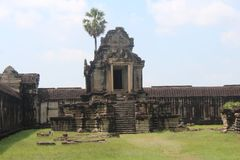 Καμπότζη Ναός Wat Angkor Το Siem συγκεντρώνει την επαρχία Το Siem συγκεντρώνει την πόλη Στοκ Εικόνα
