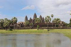 Καμπότζη Ναός Wat Angkor Το Siem συγκεντρώνει την επαρχία Το Siem συγκεντρώνει την πόλη Στοκ Εικόνες