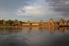 Καμπότζη Ναός Wat Angkor Το Siem συγκεντρώνει την επαρχία Το Siem συγκεντρώνει την πόλη Στοκ εικόνα με δικαίωμα ελεύθερης χρήσης